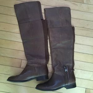 Chinese laundry knee high brown riding boots